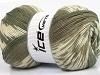 Jacquard Wool Khaki Cream Beige