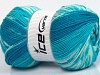 Jacquard Wool Turquoise Shades