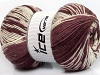 Jacquard Wool White Maroon Shades