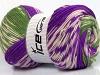 Jacquard Wool Purple Green Cream