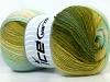 Merino Gold Batik Turquoise Green Shades