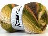 Merino Gold Batik Green Shades Brown Shades