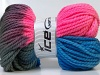 Hand-Dyed Wool Bulky Turquoise Pink Grey