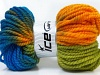 Hand-Dyed Wool Bulky Yellow Green Blue