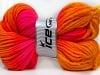 Hand-Dyed Wool Cord Orange Gold Fuchsia