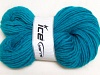 Hand-Dyed Wool Cord Turquoise