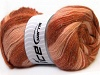Angora Color Glitz Salmon Copper Brown Shades