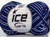 Almina Cotton Color White Navy Blue