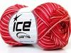 Almina Cotton Color White Salmon Red