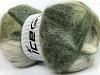 Bermuda Mohair White Green Shades