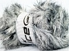 Faux Fur Color White Black