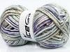 Magic Superbulky White Purple Mint Green Light Grey