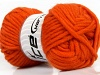 Felt Virgin Wool Orange