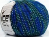Twinkle Wool Teal Silver Bright Blue
