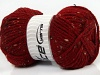 Wool Tweed Superbulky Dark Red