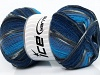 Super Sock Turquoise Grey Blue Shades