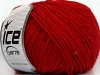 Wool Paillette Red