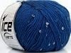 Wool Paillette Blue