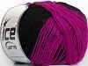 Wool Paillette Fuchsia Black