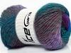 Sultan Wool Teal Purple Lilac Grey Blue