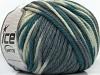 Superwash Wool Bulky Color White Grey Shades