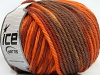Superwash Wool Bulky Color Orange Copper Brown