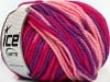Superwash Wool Bulky Color Purple Pink Fuchsia
