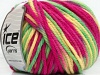 Superwash Wool Bulky Color Yellow Green Fuchsia