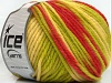 Superwash Wool Bulky Color Red Green Cream
