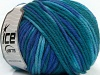 Superwash Wool Bulky Color Teal Blue Shades