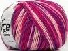 Superwash Wool Color Purple Pink Shades