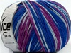 Superwash Wool Color Purple Blue Shades