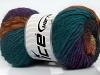 Marvelous Pure Wool Teal Purple Brown Black