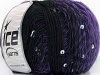 Wool Paillette Purple Black