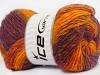 Sultan Wool Orange Maroon Copper Burgundy