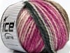 Fun Wool Bulky White Grey Fuchsia Brown