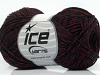 Wool Viscose Purple Burgundy Black