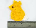 Bunny 100% Acrylic knitted item. Size: 9cm x 5cm Brand Ice Yarns, acs-1040