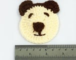 Teddy 100% Acrylic knitted item. Size: 7.5cm x 6.5cm Brand ICE, acs-1044