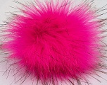 Diameter around 7cm (3&amp) Neon Pink, Brand Ice Yarns, Black, acs-1147