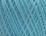 Ne: 10/3 Nm: 17/3 Fiber Content 100% Mercerised Cotton, Light Turquoise, Brand Ice Yarns, Yarn Thickness 1 SuperFine  Sock, Fingering, Baby, fnt2-49534