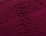 Ne: 8/4. Nm 14/4 Fiber Content 100% Mercerised Cotton, Brand Ice Yarns, Burgundy, Yarn Thickness 2 Fine  Sport, Baby, fnt2-49598