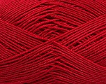 Ne: 8/4. Nm 14/4 Fiber Content 100% Mercerised Cotton, Red, Brand Ice Yarns, Yarn Thickness 2 Fine  Sport, Baby, fnt2-49599