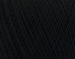 Fiber Content 67% Cotton, 33% Polyester, Brand ICE, Black, Yarn Thickness 1 SuperFine  Sock, Fingering, Baby, fnt2-49629
