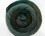 Fiber Content 90% Acrylic, 10% Polyamide, Brand Ice Yarns, Grey, Green Shades, Yarn Thickness 4 Medium  Worsted, Afghan, Aran, fnt2-49657