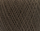 Fiber Content 67% Cotton, 33% Polyester, Brand Ice Yarns, Dark Brown, Yarn Thickness 1 SuperFine  Sock, Fingering, Baby, fnt2-49694