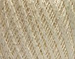 Ne: 10/3 +600d. Viscose. Nm: 17/3 Fiber Content 72% Mercerised Cotton, 28% Viscose, Brand Ice Yarns, Cream, Yarn Thickness 1 SuperFine  Sock, Fingering, Baby, fnt2-49859