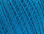 Ne: 10/3 +600d. Viscose. Nm: 17/3 Fiber Content 72% Mercerised Cotton, 28% Viscose, Turquoise, Brand Ice Yarns, Yarn Thickness 1 SuperFine  Sock, Fingering, Baby, fnt2-49862