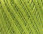 Ne: 10/3 +600d. Viscose. Nm: 17/3 Fiber Content 72% Mercerised Cotton, 28% Viscose, Light Green, Brand ICE, Yarn Thickness 1 SuperFine  Sock, Fingering, Baby, fnt2-49865
