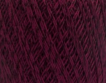 Ne: 10/3 +600d. Viscose. Nm: 17/3 Fiber Content 72% Mercerised Cotton, 28% Viscose, Maroon, Brand Ice Yarns, Yarn Thickness 1 SuperFine  Sock, Fingering, Baby, fnt2-49866